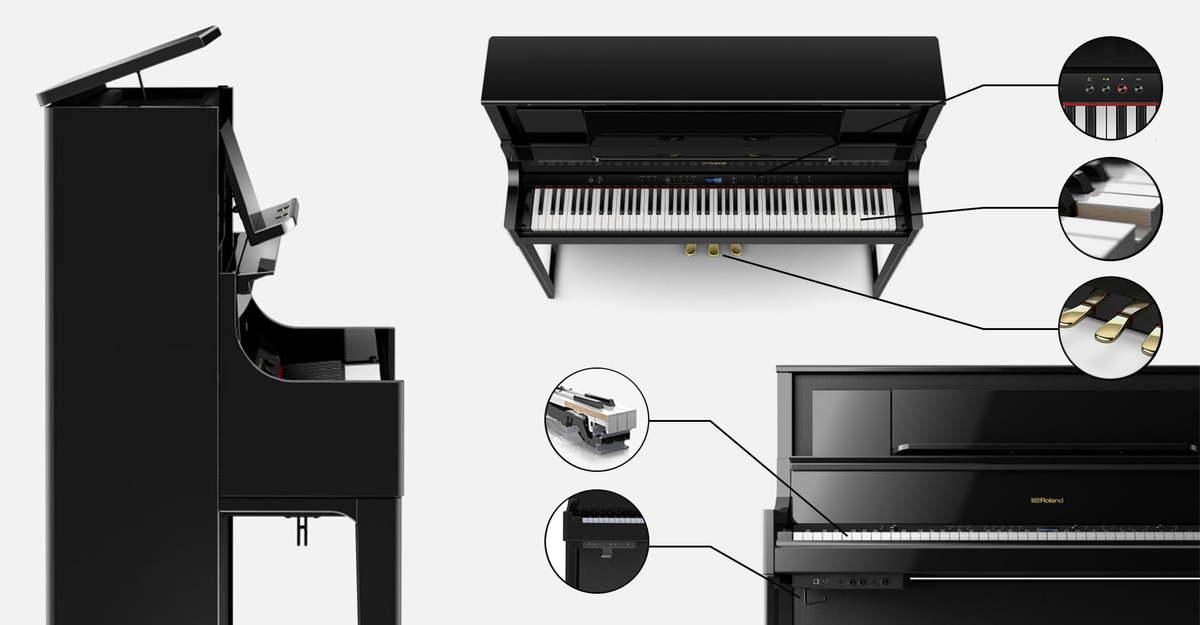Roland-lx-digital-piano-close-ups