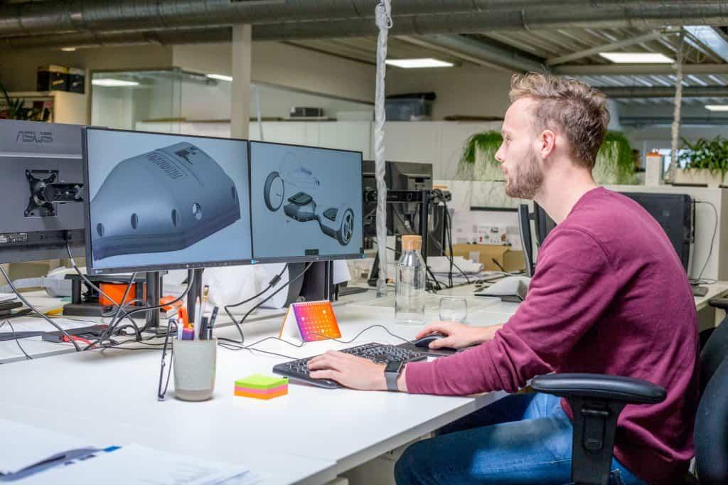 Aan het werk met 3D CAD tekeningen